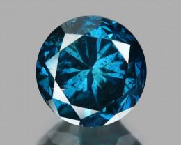 Diamond 0.49 Cts Sparkling Rare Fancy  Blue Color Natural