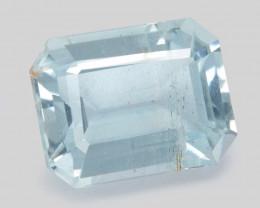 3.12 Cts Un Heated  Aque Blue  Natural Aquamarine Loose Gemstone