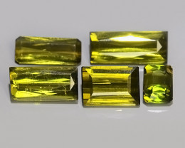 4.20 CTS AWESOME NATURAL GREEN TOURMALINE TRILLION GEM!!