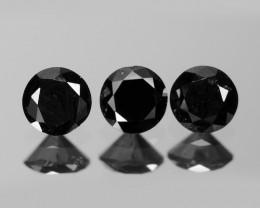 Diamond 0.31 Cts 3 Pcs Amazing Fancy Black Color Natural