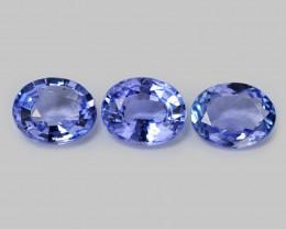 Tanzanite 1.85 Cts 3pcs Rare Violet Blue Color Natural Gemstones