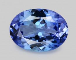 Tanzanite 1.36 Cts Amazing rare Violet Blue Color Natural Gemstone