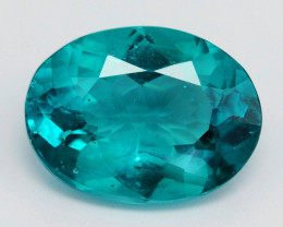 Apatite 2.89 Cts Natural Neon Greenish Blue Loose Gemstone