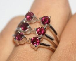 Natural Garnet 925 Silver Ring 462