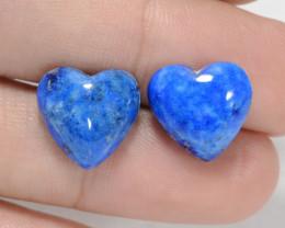 *NoReserve*Lapis Lazuli 12.09 Cts 2 Pcs Blue Natural Pair
