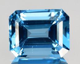 ~MIND BLOWING~ 3.96 Cts Natural London Blue Topaz 10 X 8mm Emerald Cut