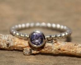Natural Tanzanite 925 Silver Ring 388