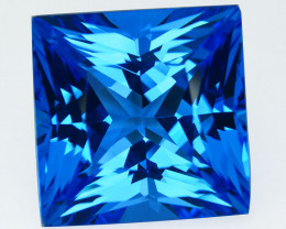 29.59 Cts Natural Swiss Blue Topaz  Square Princess Flawless