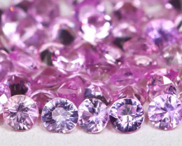 3.52Ct Round 2.2mm Natural Untreated Pink Color Sapphire Lot C2704