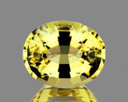 6x5 mm Oval 0.92ct Ceylon Yellow Sapphire (No Beryllium) [VVS]