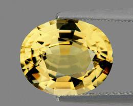 6x5 mm Oval 0.77ct Ceylon Yellow Sapphire (No Beryllium) [VVS]