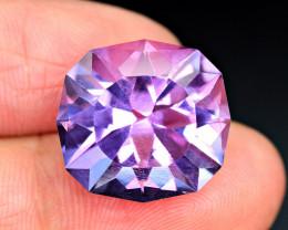 18.30Carat full lustrous Amethyst fancy cut Gemstone