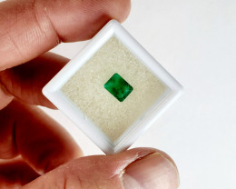 1.450 CT Colombian Emerald Faceted Gemstone *ON SALE - $475*