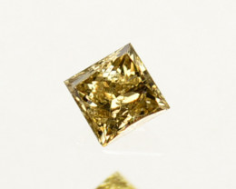 ~UNTREATED~ 0.06 Cts Natural Diamond Champagne Square Princess 2mm  Cut Afr