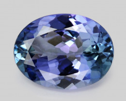 Tanzanite 1.80 Cts Amazing Rare Violet Blue Color Natural Gemstone