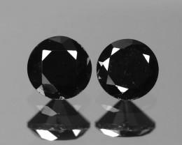 Diamond 0.20 Cts 2 Pcs Amazing Rare Fancy Black Color Natural