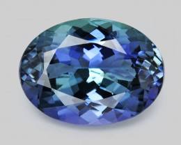 Tanzanite 1.41 Cts Amazing Rare Violet Blue Color Natural Gemstone