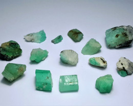 Amazing Natural color Lovely Rough Swat Emerald lot 70CtsGN99