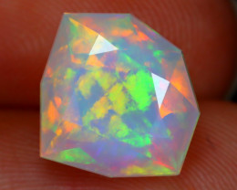 Welo Opal 2.82Ct Master Cut Natural Ethiopian Flash Welo Opal A2812