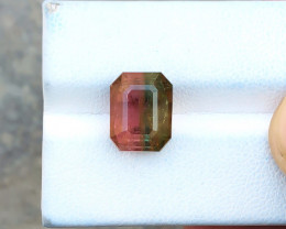 5.40 Ct Natural Bi Color Transparent Tourmaline Gemstone