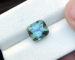 3.20 Ct Natural Greenish Blue Transparent Tourmaline Gemstone