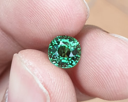 NO HEAT 1.42 CTS GORGEOUS VVS TOP TOP GREEN TOURMALINE MOZAMBIQUE