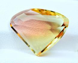 12.74Carats nice shape Bi Tourmaline cut gemstone
