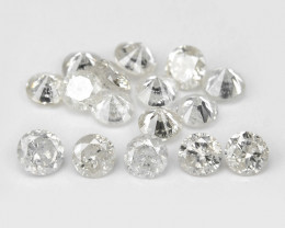*NoReserve*Diamond 0.25 Cts 16 Pcs Untreated Fancy White Color Natural