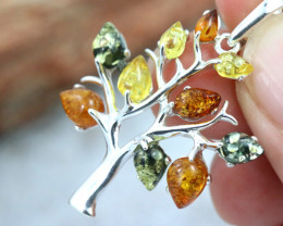 Natural Baltic Amber Sterling Silver Pendant code GI 1029