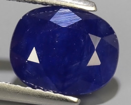 3.10 Cts Natural Intense Beautiful Blue Sapphire Oval Shape From MADAGASCAR