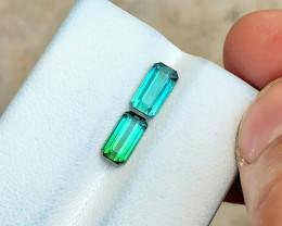 2.80 Ct Natural Blue & Bi Color Transparent Tourmaline Gems Par
