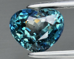 Certified 1.56ct Heart Sapphire Australia Green Blue Heated