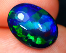 Black Opal 2.91Ct Bright Color Play Welo Black Smoked Opal A2908