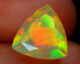 2.23Ct Bright Neon Rainbow Flash Color Play Faceted Welo Opal C2905