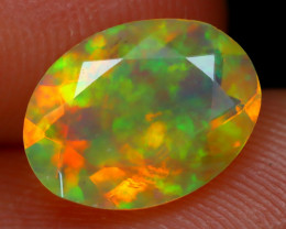 1.20Ct Bright Neon Rainbow Flash Color Play Faceted Welo Opal C2908