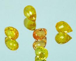 2.15Ct Natural Yellow Sapphire  Briolette Parcel