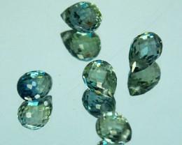 2.05Ct Natural Green Sapphire  Briolette Parcel