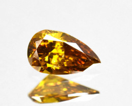 Amazing!! 0.51Cts Natural Untreated Diamond Fancy Yellow Pear Cut Africa