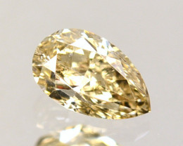 Splendid!! 0.40 Cts Natural Untreated Diamond Fancy Yellow Pear Cut Africa