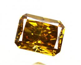 Splendid!! 0.24 Cts Natural Untreated Diamond Fancy Yellow Octagon Cut Afri