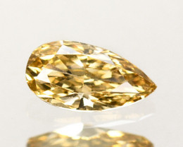 Outstanding!!! 0.32Cts Natural Untreated Diamond Fancy Yellow Pear Cut Afri