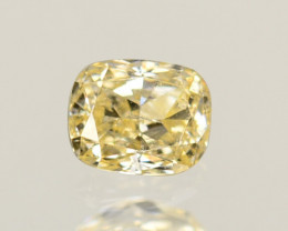 0.27 Cts Untreated Natural White Diamond Cushion Cut Africa