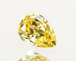 Awesome!! 0.28 Cts Natural Untreated Diamond Fancy Yellow Pear Cut Africa