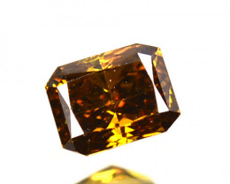 Splendid!! 0.38 Cts Natural Untreated Diamond Fancy Yellow Octagon Cut Afri