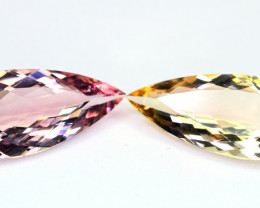 10.14Carats 2 Pis Mix Color Tourmaline cut gemstone Pairs