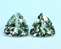 5.85Carats 2 Pis  Tourmaline cut gemstone Pairs
