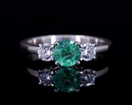 #10 Columbian Emerald, VVS Diamonds, HandMade