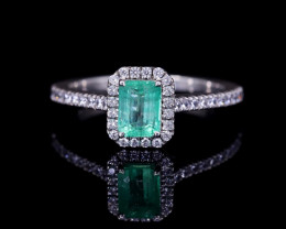 #7 Certified Colombian Custom Emerald Ring with VVS Diamonds