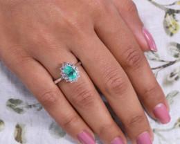 #2 PLATINUM Certified Colombian Custom Emerald Ring with VVS Diamonds