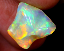5.10cts Natural Ethiopian Welo Well Polished Rough Opal / MA1354